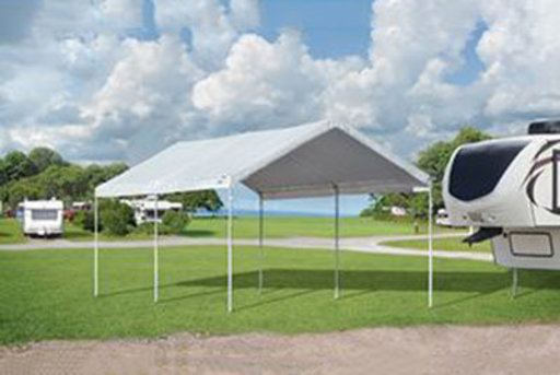 View a Larger Image of Accelaframe 10x20 Canopy, White 5 oz. Fabric, 1 3/8  Frame