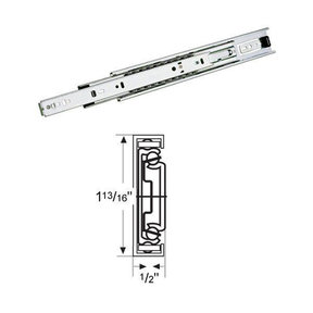"Accuride 18"" Drawer Slide, Bright Chrome"