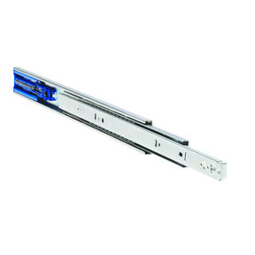 "3832EC 22"" Easy Close Drawer Slide, Clear Zinc"