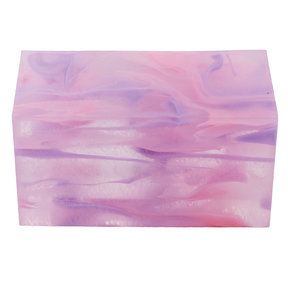"Acrylic 1-1/2"" x 1-1/2"" x 3"" Cotton Candy Clouds Turning Stock"