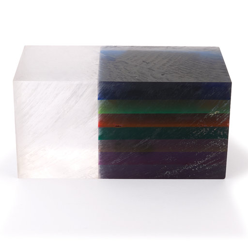 "View a Larger Image of Acrylic Bottle Stopper Blank - Dark Prism 1-1/2"" x 1-1/2"" x 3"""