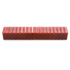 Acrylic Honeycomb Pen Blank - Red