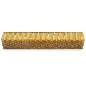 Acrylic Honeycomb Pen Blank - Yellow