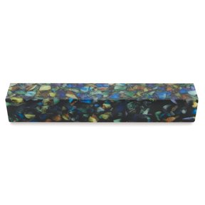 "Acrylic 3/4"" x 3/4"" x 5"" Abalone Quartz Turning Stock"