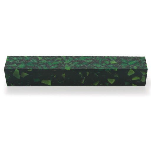 View a Larger Image of Acrylic Pen Blank - Green Quartz
