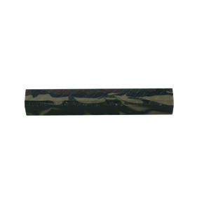 "Acrylic 3/4"" x 3/4"" x 5"" Jungle Camo Turning Stock"
