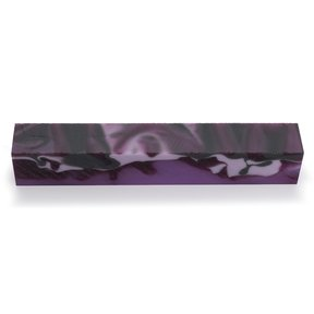 "Acrylic 3/4"" x 3/4"" x 5"" Kiss of Purple Turning Stock"