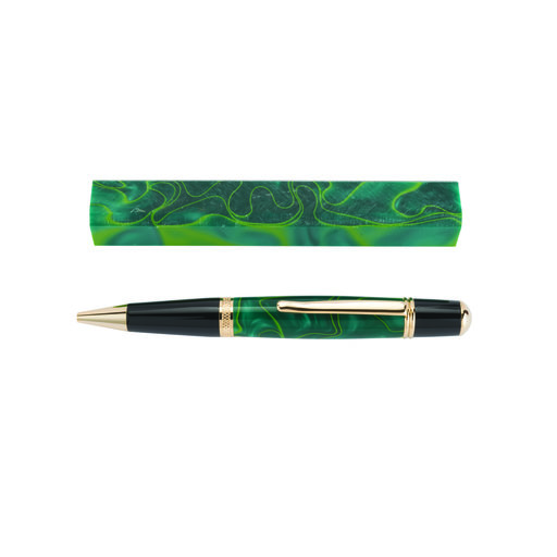 View a Larger Image of Acrylic Pen Blank - Lucky Clover