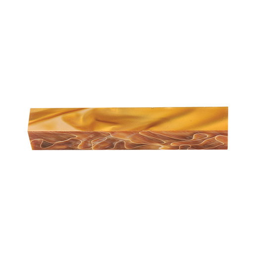 View a Larger Image of Acrylic Pen Blank - Orange Cream