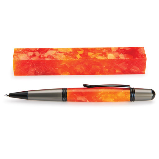 View a Larger Image of Acrylic Pen Blank - Orange Crush