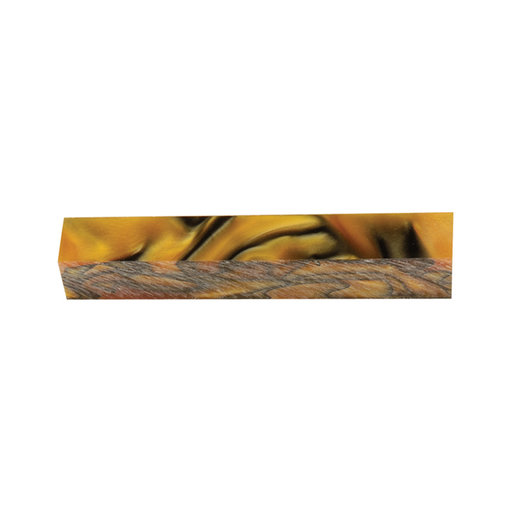 View a Larger Image of Acrylic Pen Blank - Orange Ripple