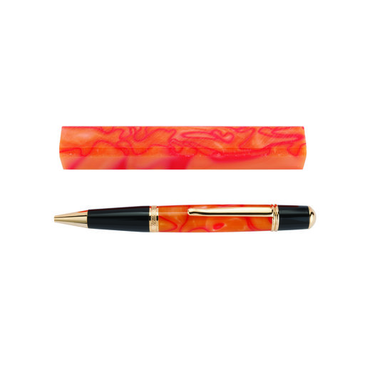 View a Larger Image of Acrylic Pen Blank - Orange Sorbet
