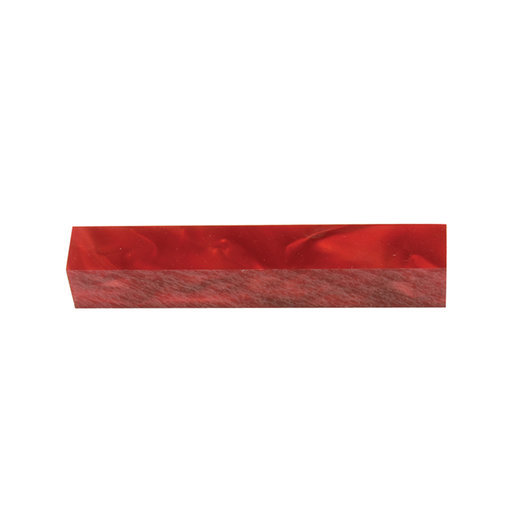 View a Larger Image of Acrylic Pen Blank - Rage Red