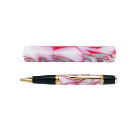 Acrylic Pen Blank - Red and White Swirl