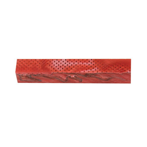 View a Larger Image of Acrylic Pen Blank - Scarlet Mesh