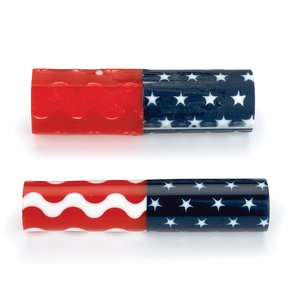 Acrylic Pen Blank Stars and Wavy Stripes