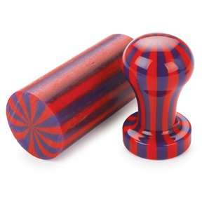 Acrylic Poly Resin Bottle Stopper Blank - Red & Purple