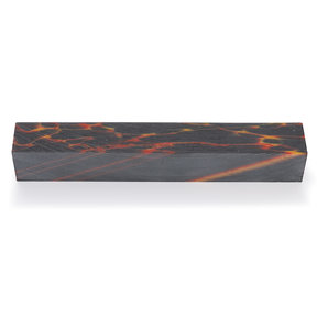 "Poly Resin 3/4"" x 3/4"" x 5"" Burning Embers Turning Stock"