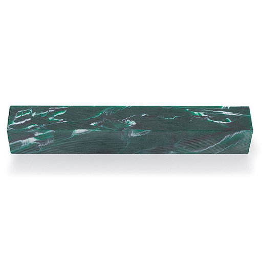 View a Larger Image of Acrylic Poly Resin Pen Blank - Evergreen