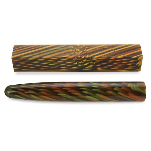 View a Larger Image of Acrylic Poly Resin Pen Blank - Snake Skin
