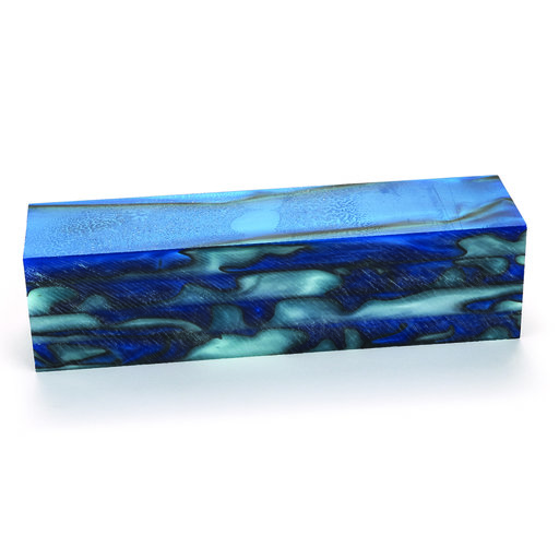 """View a Larger Image of Acrylic Turning Stock Blue Bayou 1-1/2"""" x 1-1/2"""" x 6"""""""