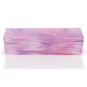 "Acrylic 1-1/2"" x 1-1/2"" x 6"" Cotton Candy Clouds Turning Stock"