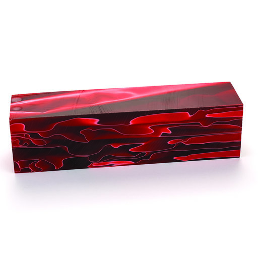 "View a Larger Image of Acrylic Turning Stock Ruby Waters 1-1/2"" x 1-1/2"" x 6"""