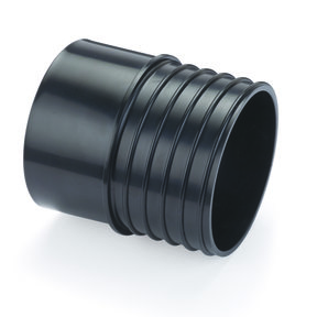 """Adapts 4"""" PVC Sewer and Drain Pipe to 4"""" Dust Collection Hose"""