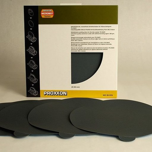 View a Larger Image of Adhesive Sanding Disk, 320 Silicone Carbide Grit, Pack of 5