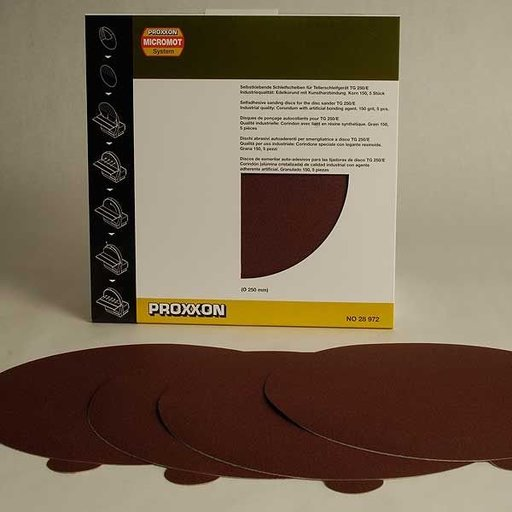 View a Larger Image of Adhesive Sanding Disk, Aluminum Oxide 150 Grit, Pack of 5