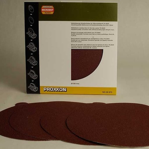 View a Larger Image of Adhesive Sanding Disk, Aluminum Oxide 80 Grit, Pack of 5
