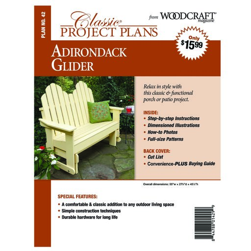 View a Larger Image of Adirondack Glider - Paper Plan