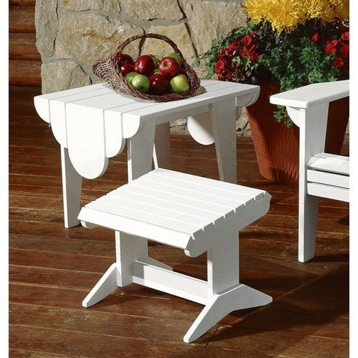 View a Larger Image of Adirondack Footstool and Side Table Plan