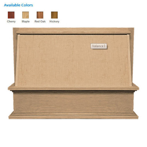 """View a Larger Image of 30"""" Classic Valance Red Oak"""