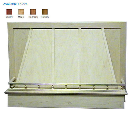 """View a Larger Image of 30"""" Standard Valance Red Oak"""