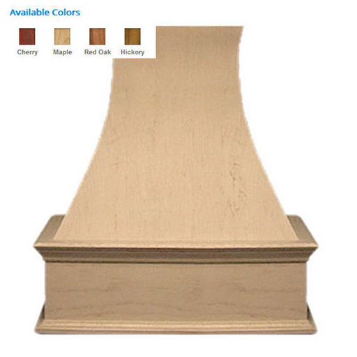 """View a Larger Image of 36"""" Decorative Curve Red Oak"""