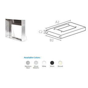 "36"" Rectangular Liner, Stainless Steel, 9107 SUS"