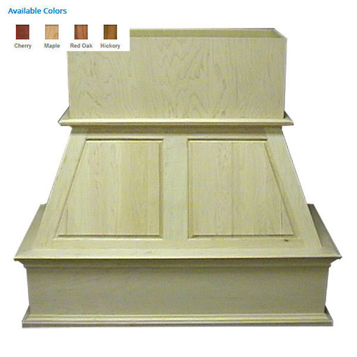 """View a Larger Image of 36"""" Upper Raised Panel Island Red Oak"""