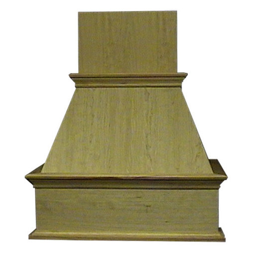 """View a Larger Image of 42"""" Decorative Hood Red Oak"""
