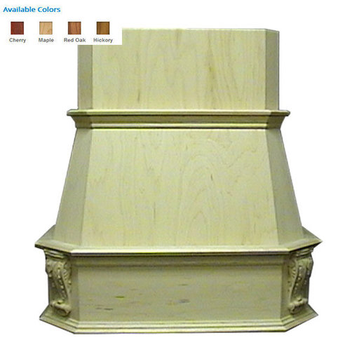 "View a Larger Image of 48"" Victorian Hood Maple"