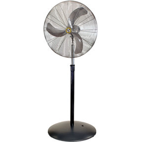 "Heavy Duty Hazardous Location Air Circulator, 24"" Pedestal Fan"
