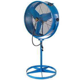 Misting Barrel Pedestal Fan