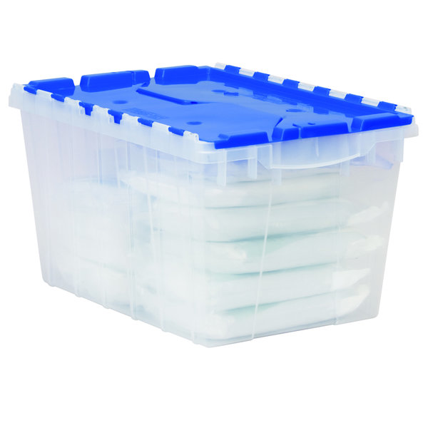 Akro Mils 12 Gallon Attached Lid KeepBox Set of 6