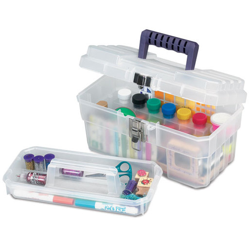 View a Larger Image of Akro-Mils 14in Art Supply Storage Box, Set of Three