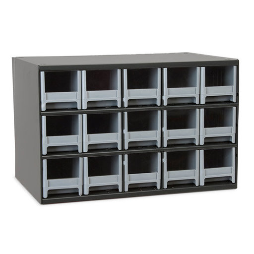 View a Larger Image of Akro-Mils 15 Drawer Steel Storage Cabinet with Gray Drawers