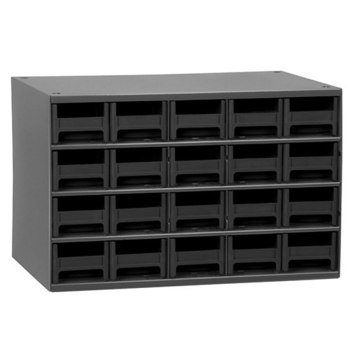View a Larger Image of Akro-Mils 20 Drawer Steel Storage Cabinet with Black Drawers