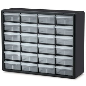 Akro-Mils 24 Large Drawer Stackable Storage Center, Model 10724, Set of Two