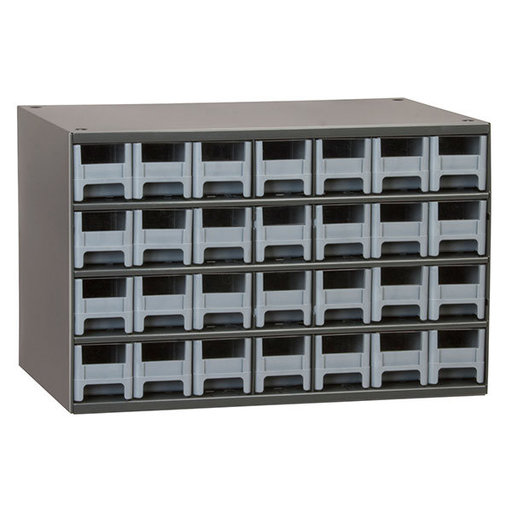 View a Larger Image of Akro-Mils 28 Drawer Steel Storage Cabinet with Gray Drawers
