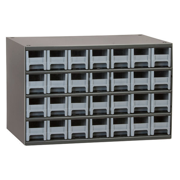 Akro Mils 28 Drawer Steel Storage Cabinet With Gray Drawers