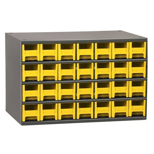 View a Larger Image of Akro-Mils 28 Drawer Steel Storage Cabinet with Yellow Drawers